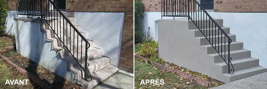 R paration balcon de b ton ou ciment guilbec ma onnerie for Recouvrement de balcon exterieur