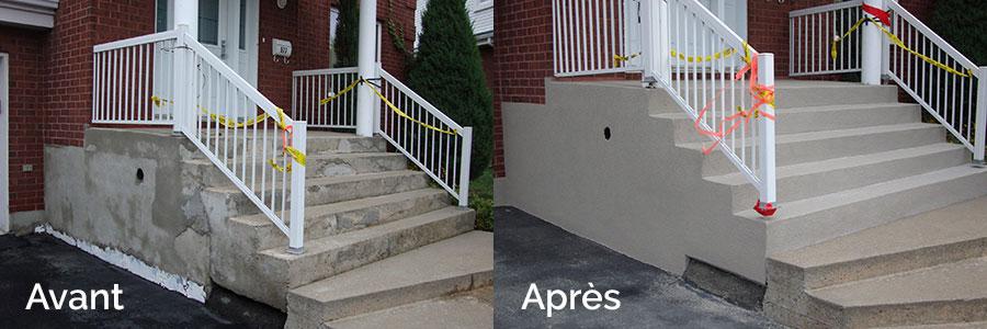 R paration balcon de b ton ou ciment surfaceur de b ton for Finition de galerie exterieure